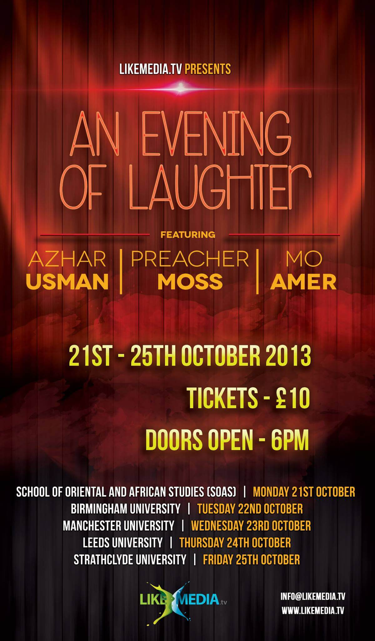 LikeMedia - AN EVENING OF LAUGHTER
